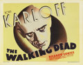 "Movie Posters:Horror, The Walking Dead (Warner Brothers, 1936). Title Lobby Card (11"" X14""). Boris Karloff was at the top of his craft by the tim..."