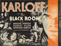 """Movie Posters:Horror, The Black Room (Columbia, 1935). Herald (9"""" X 11.5""""). Boris Karloff stars in this thriller, portraying twin brothers cursed ..."""