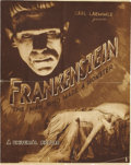 "Movie Posters:Horror, Frankenstein (Universal, 1931). Herald (16.5"" X 10.5""). James Whalewas given the assignment to film Mary Shelley's novel fo..."