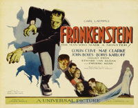 """Frankenstein (Universal, 1931). Title Lobby Card (11"""" X 14""""). James Whale created a legend when he cast a virt..."""