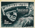 """Movie Posters:Horror, Frankenstein (Universal, R-1947). Title Lobby Card (11"""" X 14""""). Offered here is the beautiful 1947 reissue title card from U..."""