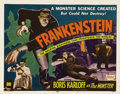 "Movie Posters:Horror, Frankenstein (Universal, R-1951). Title Lobby Card (11"" X 14""). By 1948, Universal sold the reissue rights to many of its cl..."