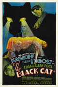 "Movie Posters:Horror, The Black Cat (Universal, 1934). One Sheet (27"" X 41"") Style D.."