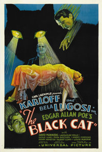 "The Black Cat (Universal, 1934). One Sheet (27"" X 41"") Style D"