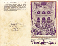 """The Phantom of the Opera (Universal, 1925). Herald (9"""" X 14""""). Lon Chaney stars as the vengeful composer who l..."""