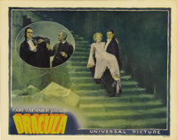 "Dracula (Universal, 1931). Lobby Card (11"" X 14""). Bela Lugosi appears twice on this incredible card from the..."
