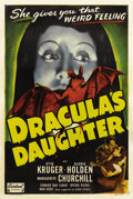 "Movie Posters:Horror, Dracula's Daughter (Realart, R-1949). One Sheet (27"" X 41""). By thetime this film was reissued in 1949, Gloria Holden was g..."