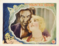"Movie Posters:Horror, The Haunted House (First National, 1928). Lobby Card (11"" X 14"").This early talkie found the heirs to a dying millionaire b..."