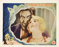 "The Haunted House (First National, 1928). Lobby Card (11"" X 14""). This early talkie found the heirs to a dying..."
