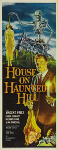"""Movie Posters:Horror, House on Haunted Hill (Allied Artists, 1959). Insert (14"""" X 36"""").Made by William Castle for a shoestring budget, this littl..."""