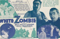 """Movie Posters:Horror, White Zombie (United Artists, 1932). Herald. Bela """"Dracula"""" Lugosi was already becoming typecast into horror roles when he p..."""