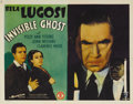 """Movie Posters:Horror, Invisible Ghost (Monogram, 1941). Title Lobby Card (11"""" X 14"""").Bela Lugosi menaces on this stunning title card as a homicid..."""