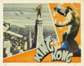 "Movie Posters:Horror, King Kong (RKO, 1933). Lobby Card (11"" X 14""). Kong! ""The EighthWonder of the World,"" stands atop the Empire State Building..."