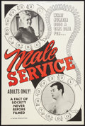 "Movie Posters:Sexploitation, Male Service (Mitam Production, 1966). One Sheet (28"" X 42"").Sexploitation.. ..."