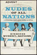 "Movie Posters:Sexploitation, Nudes of All Nations (American Film Distributing Corp., 1962). OneSheet (27.5"" X 40.75""). Sexploitation.. ..."