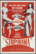 "Movie Posters:Sexploitation, Striporama (Fine Arts Films, 1953). One Sheet (27"" X 41"").Sexploitation.. ..."