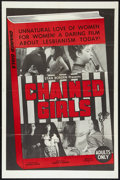 """Movie Posters:Sexploitation, Chained Girls (AFDC, 1965). One Sheet (27"""" X 41"""") and Pressbook (8.5"""" X 11""""). Sexploitation.. ... (Total: 2 Items)"""