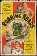 "Movie Posters:Sports, Roaring Roads (Ajax, 1935). One Sheet (27"" X 41""). Sports.. ..."