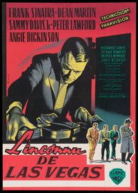 """Ocean's 11 (Warner Brothers, 1960). French Affiche (22"""" X 31.""""). Crime"""