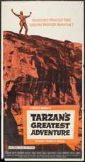 "Movie Posters:Adventure, Tarzan's Greatest Adventure (Paramount, 1959). Three Sheet (41"" X81""). Adventure.. ..."