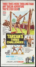 "Movie Posters:Adventure, Tarzan's Three Challenges (MGM, 1963). Three Sheet (41"" X 81"").Adventure.. ..."