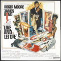"""Movie Posters:James Bond, Live and Let Die (United Artists, 1973). Six Sheet (81"""" X 81"""") Flat Folded. James Bond.. ..."""