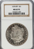 Morgan Dollars: , 1878 8TF $1 MS62 Prooflike NGC. NGC Census: (142/313). PCGSPopulation (198/358). Numismedia Wsl. Price for problem free N...