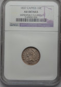 Bust Dimes, 1835 10C --Improperly Cleaned--NGC. AU Details and an 1837Capped--Improperly Cleaned--NGC. AU Details.... (Total: 2 coins)