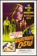 "Movie Posters:Horror, Nightmare Castle (Allied Artists, 1966). One Sheet (27"" X 41""). Horror.. ..."