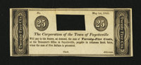 Fayetteville, AR-Corporation of the Town of Fayetteville 25¢ May 1, 1842
