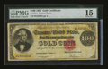 Large Size:Gold Certificates, Fr. 1214 $100 1882 Gold Certificate PMG Choice Fine 15....
