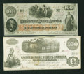 Confederate Notes:Group Lots, Two Different Confederate $100s.. ... (Total: 2 notes)