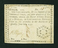 Colonial Notes:Georgia, Georgia June 8, 1777 $1/2 Very Fine....
