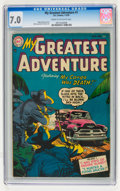 Golden Age (1938-1955):Horror, My Greatest Adventure #1 (DC, 1955) CGC FN/VF 7.0 Cream tooff-white pages....