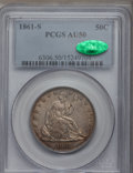 Seated Half Dollars, 1861-S 50C AU50 PCGS. CAC. PCGS Population (3/48). NGC Census:(3/52). Mintage: 939,500. Numismedia Wsl. Price for problem ...