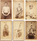 American Indian Art:Photographs, GANNAWAY'S OSAGE PORTRAITS. c. 1865... (Total: 6 Items)