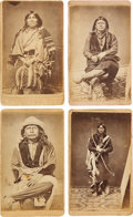 American Indian Art:Photographs, GANNAWAY'S WICHITA PORTRAITS. c. 1865... (Total: 4 Items)