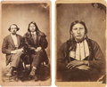 American Indian Art:Photographs, GANNAWAY'S COMANCHE PORTRAITS. c. 1865... (Total: 2 Items)