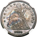 Seated Half Dimes, 1860 H10C Transitional MS62 NGC....