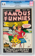 Golden Age (1938-1955):Miscellaneous, Famous Funnies #180 File Copy (Eastern Color, 1949) CGC NM 9.4 Off-white to white pages....