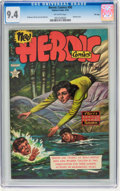 Golden Age (1938-1955):War, Heroic Comics #90 File Copy (Eastern Color, 1954) CGC NM 9.4Off-white pages....
