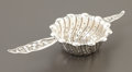 Silver Flatware, American:Whiting, AN AMERICAN SILVER TEA STRAINER. Whiting Manufacturing Company, NewYork, New York, circa 1885. Marks: (griffin with W), (da...