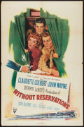 """Movie Posters:Comedy, Without Reservations (RKO, 1946). One Sheet (27"""" X 41"""") Style A. Comedy.. ..."""