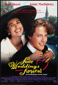 """Four Weddings and a Funeral Lot (Gramercy, 1994). One Sheets (2) (27"""" X 40"""") DS. Comedy. ... (Total: 2 Items)"""