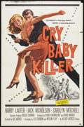 "Movie Posters:Drama, Cry Baby Killer (Allied Artists, 1958). One Sheet (27"" X 41""). Drama.. ..."