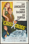 "Movie Posters:Film Noir, Criss Cross (Universal, R-1958). One Sheet (27"" X 41""). Film Noir.. ..."
