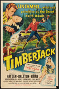 "Movie Posters:Adventure, Timberjack (Republic, 1955). One Sheet (27"" X 41""). Adventure.. ..."