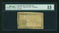 Colonial Notes:Pennsylvania, Pennsylvania March 16, 1785 15s PMG Choice Fine 15....
