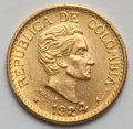 Colombia, Colombia: Republic gold 5 Pesos 1924,...