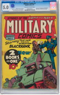 Golden Age (1938-1955):War, Military Comics #1 (Quality, 1941) CGC VG/FN 5.0 Off-white to white pages....